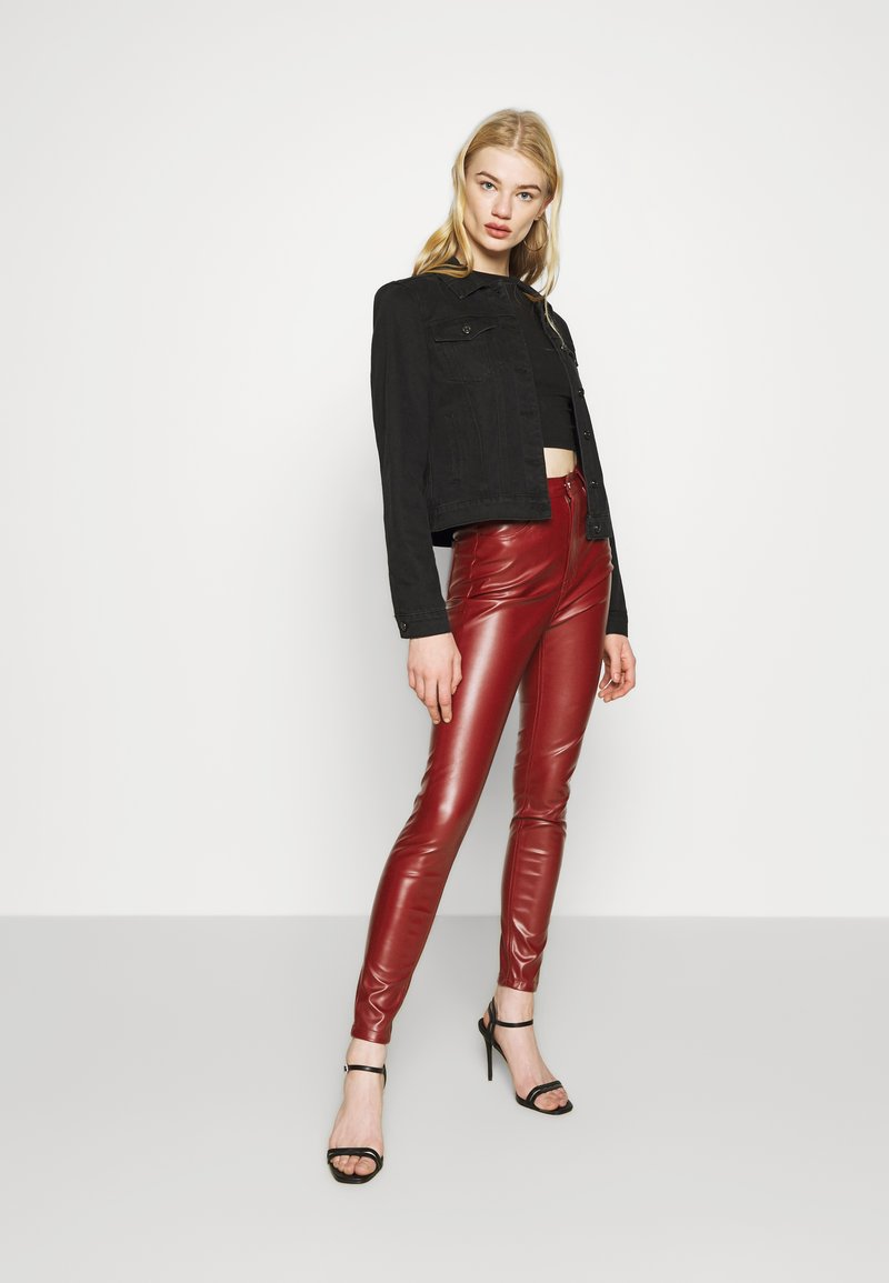 Missguided - TROUSER - Trousers - wine