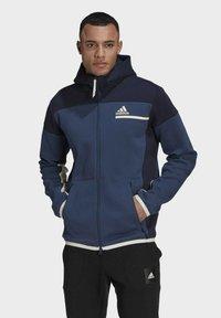 adidas Performance - Z.N.E HOODIE PRIMEGREEN HOODED TRACK TOP - Zip-up hoodie - blue - 0