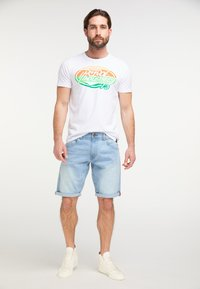 Petrol Industries - Denim shorts - bleached denim - 1
