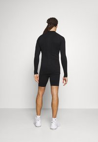 NU-IN - HALF ZIP LONG SLEEVE  - Long sleeved top - black - 2