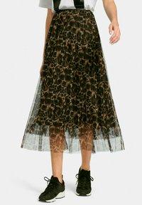 MARGITTES - A-line skirt - schwarz/multicolor - 0