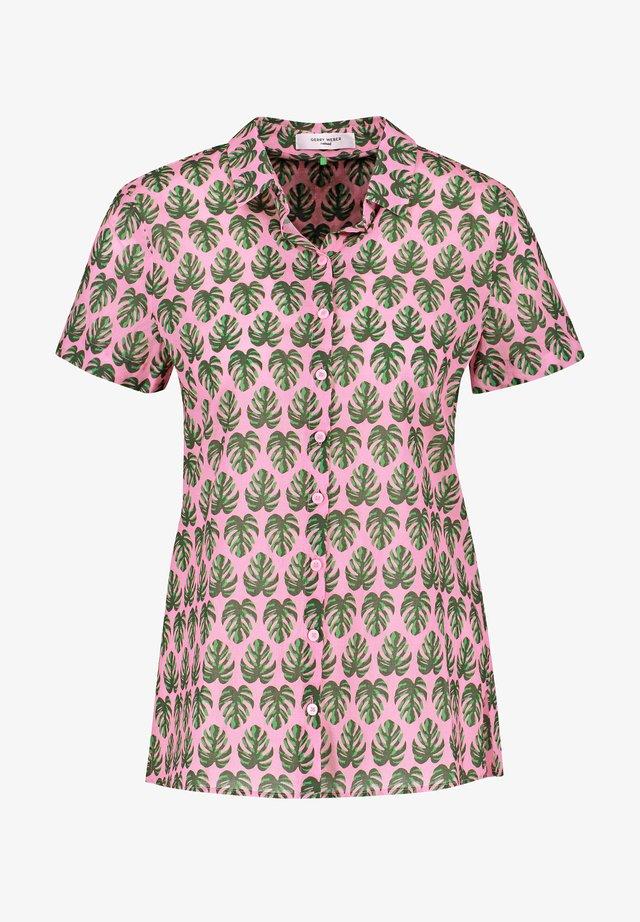 Overhemdblouse - lila/pink/grün druck