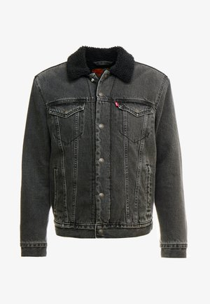 TYPE 3 SHERPA TRUCKER - Farkkutakki - black denim