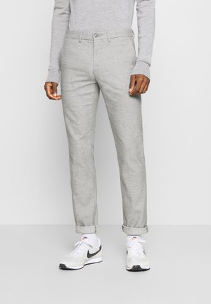 DENTON CHINO WOOL LOOK FLEX - Chinosy - grey