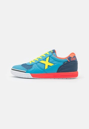 G-3 INDOOR - Zaalvoetbalschoenen - light blue/orange/yellow