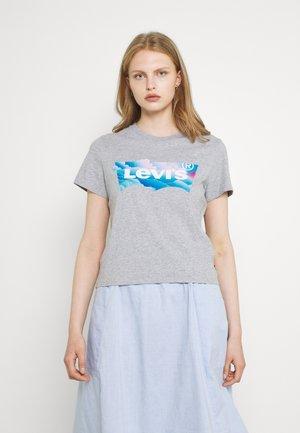 GRAPHIC JORDIE TEE - Print T-shirt - heather grey
