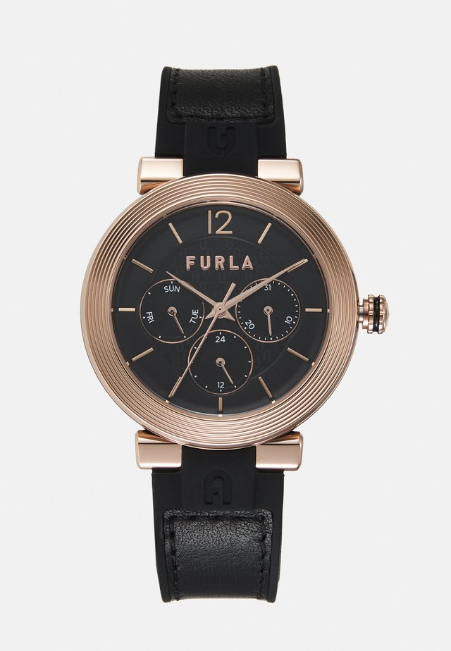 Watch - black/rosegold-coloured