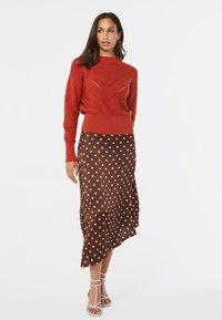WE Fashion - A-line skirt - dark brown - 0