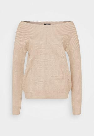OPHELITA OFF SHOULDER - Jumper - beige