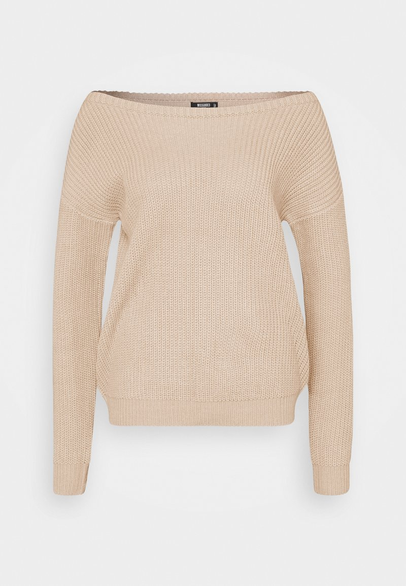 Missguided Petite - OPHELITA OFF SHOULDER - Pullover - beige