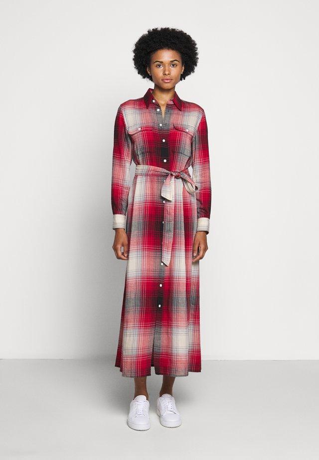LONG SLEEVE CASUAL DRESS - Maxi dress - red