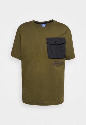 ROCHESTER WORKWEAR CREWNECK  - Print T-shirt - olive