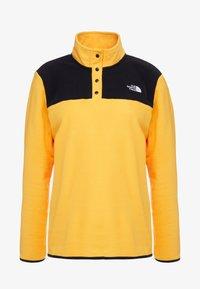 The North Face - GLACIER SNAP NECK  - Fleecetröja - yellow/black - 5