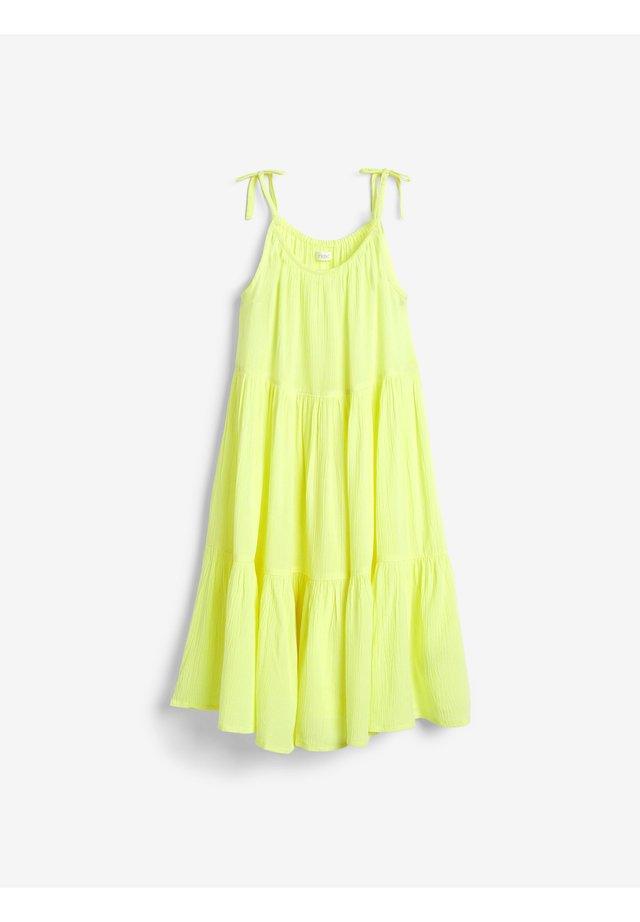 TIERED  - Denní šaty - yellow