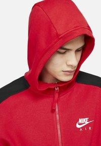 Nike Sportswear - HOODIE - Zip-up sweatshirt - university red black white - 5