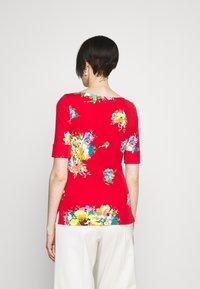 Lauren Ralph Lauren - JUDY ELBOW SLEEVE - Print T-shirt - bright hibiscus/multi - 2