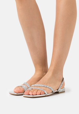 BRENDA - T-bar sandals - silver