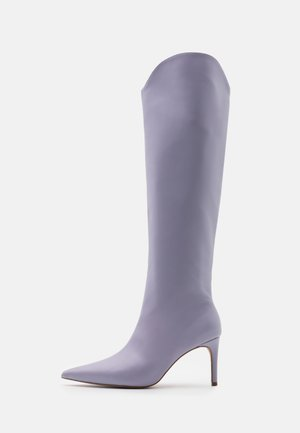 POINTY SHAFT BOOTS - Ylipolvensaappaat - lilac