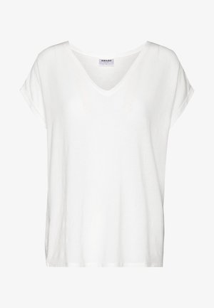 VMAVA V NECK TEE - T-shirt basique - snow white