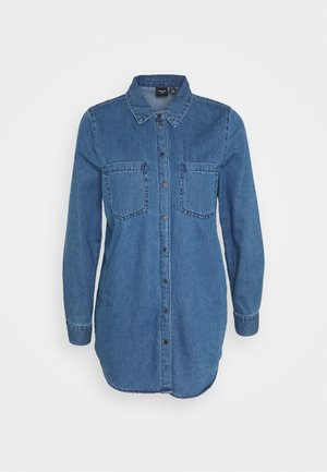 VMMILA LONG - Hemdbluse - medium blue denim