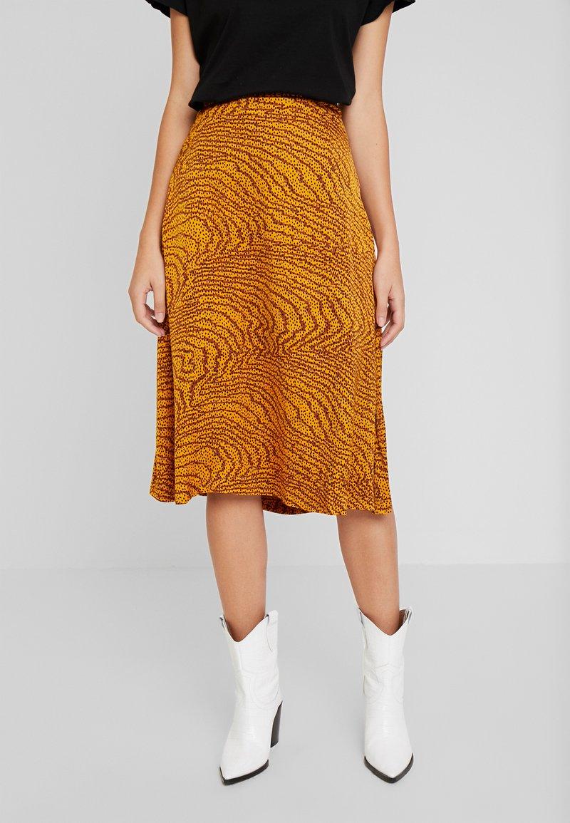 Levete Room - GHITA  - Áčková sukně - sudan brown