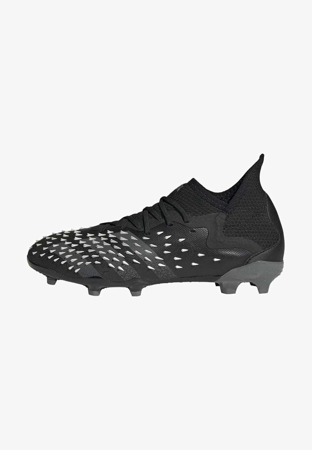 PREDATOR FREAK .1 FG UNISEX - Moulded stud football boots - core black/grey four/ftwr white