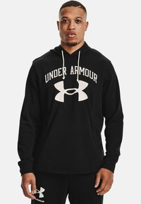 Under Armour - RIVAL TERRY BIG LOGO HD-WHT - Hoodie - black - 0