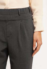 Kaffe - JILLIAN PANTS - Kalhoty - dark grey melange - 3