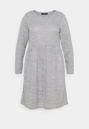 SOFT TOUCH DRESS - Jumper dress - grey
