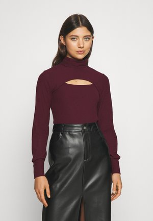 ONLNELLA DOUBLE CROPPED - Long sleeved top - winetasting