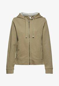 edc by Esprit - Zip-up sweatshirt - khaki - 5