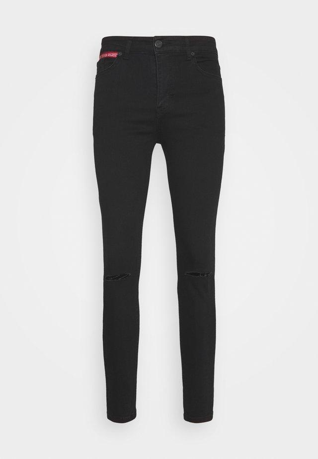 SLASHED KNEE  - Jeans Skinny Fit - black
