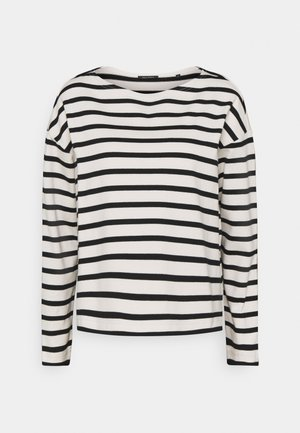 LONG SLEEVE BOAT NECK - Svetr - multi/black