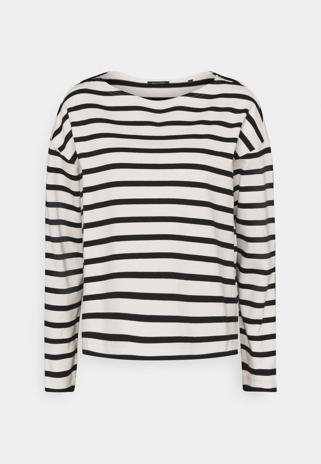 LONG SLEEVE BOAT NECK - Sweter - multi/black