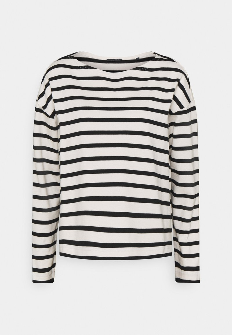 Marc O'Polo - LONG SLEEVE BOAT NECK - Jumper - multi/black