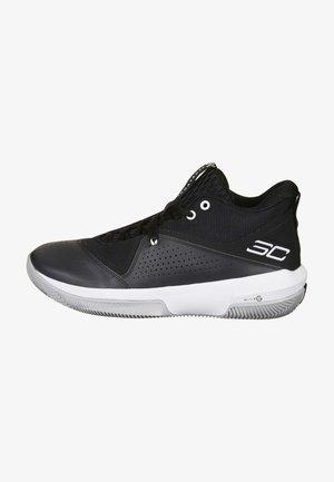 Basketball shoes - black / black / white