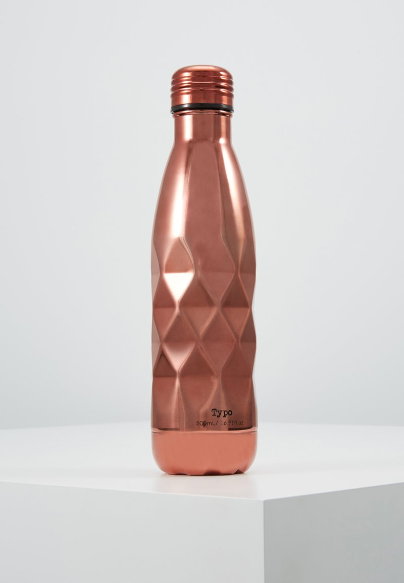 TYPO - DRINK BOTTLE LASER 500ML - Other accessories - rose gold-coloured faceted