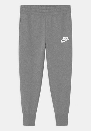 CLUB - Tracksuit bottoms - carbon heather/white