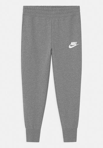 CLUB - Pantalones deportivos - carbon heather/white