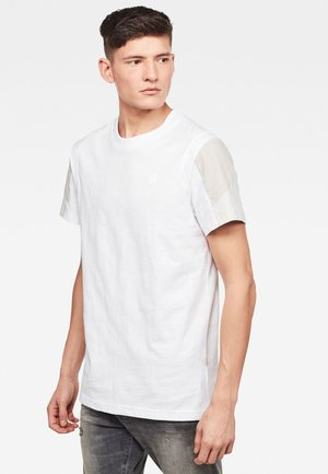 MOTAC FABRIC MIX - T-shirt med print - white