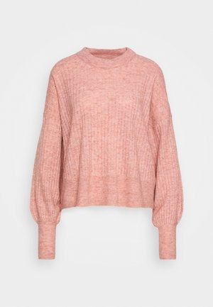 BLAKELY O NECK - Sweter - coral cloud melange