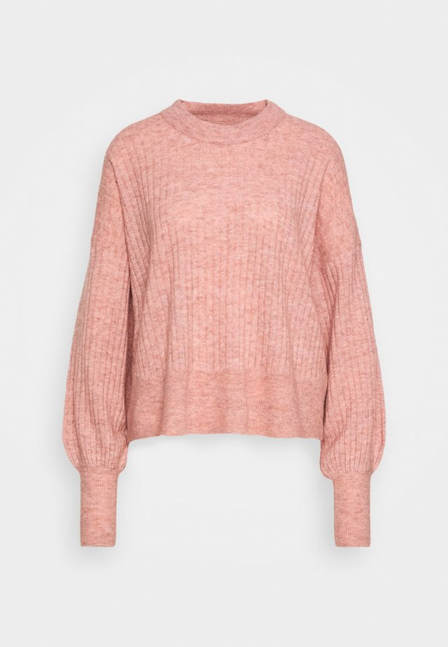 BLAKELY O NECK - Strikkegenser - coral cloud melange
