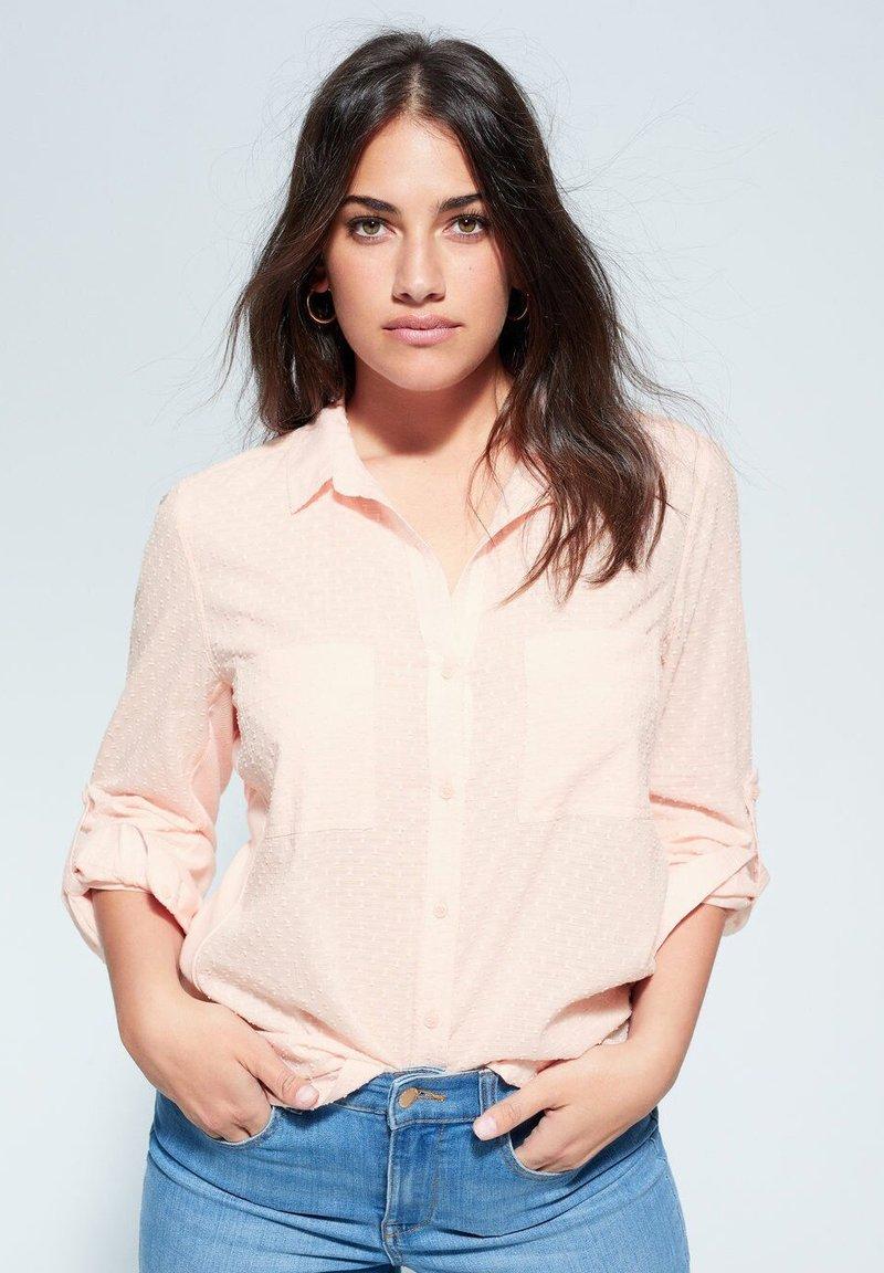 Violeta by Mango - PLANAF6 - Button-down blouse - nude