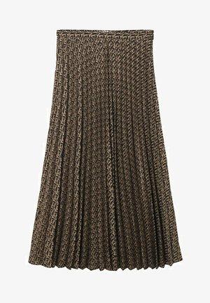 MIT LOGO-MUSTER - Plédová sukňa - schwarz