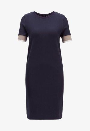 DASTRIPED - Shift dress - open blue