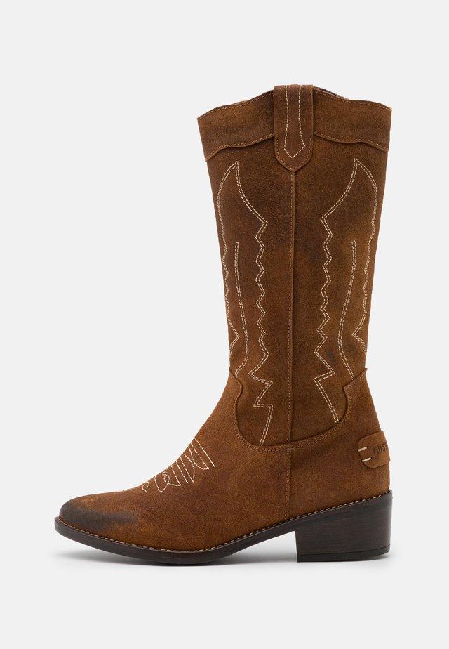 TEDINA - Cowboy/Biker boots - tan