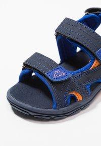 Kappa - EARLY II - Walking sandals - navy/orange - 2