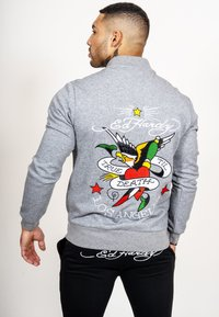 Ed Hardy - TILL DEATH BOMBER TRACKTOP - Zip-up hoodie - grey - 2