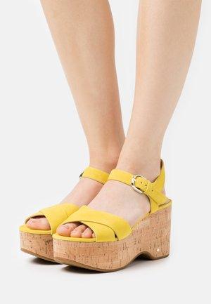 JASPER - Platform sandals - yellow