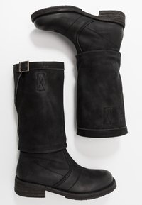 Felmini - COOPER - Cowboy/Biker boots - morat black - 3